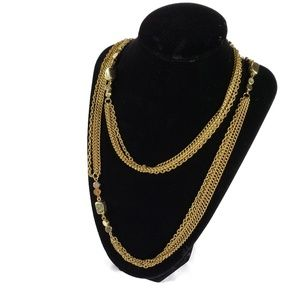 BOGO Gold Long Layered Chain Necklace